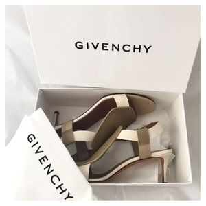 Givenchy two tone sling back hees Size 39EU beige